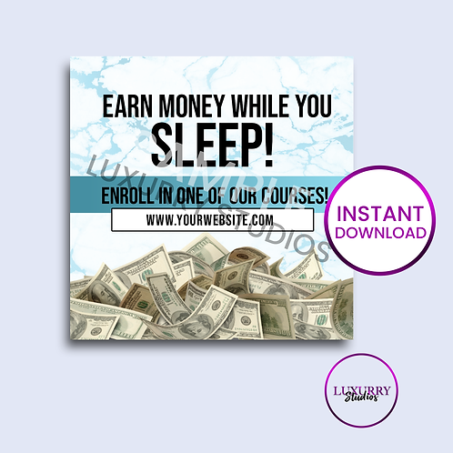 Blue Earn Money-Instant Download