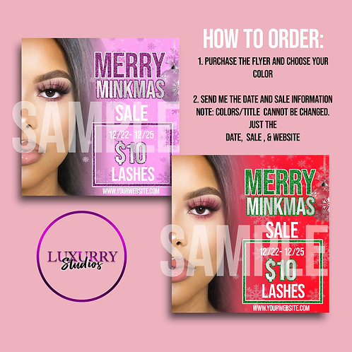 Eyelash Holiday Sale Flyer