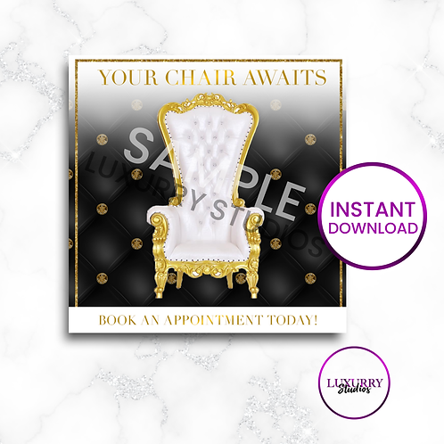 Black Chair Awaits-Instant Download