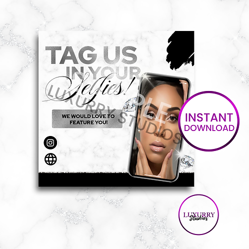 Silver Tag Us In Selfies-Instant Download