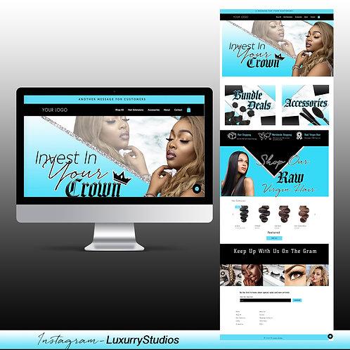 Pre-Made Hair Company Website