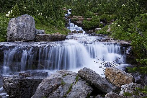 Lunch Creek Falls, Glacier National Park