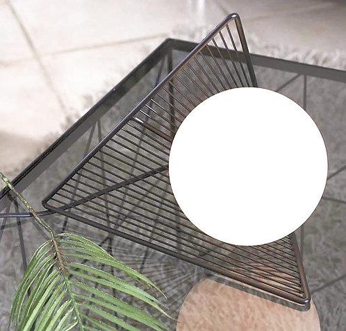Lampe métal à effet d'optique