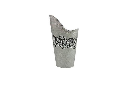Vase chromé oblique