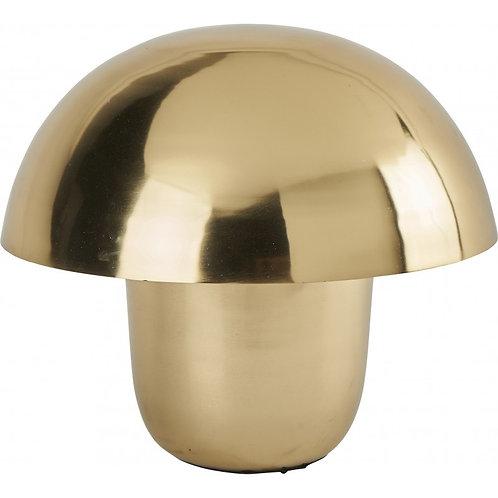 Lampe  champignon dorée