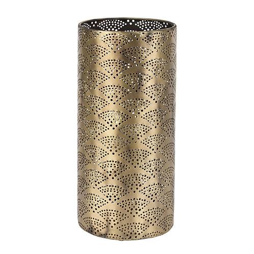 Lampe cylindrique doré