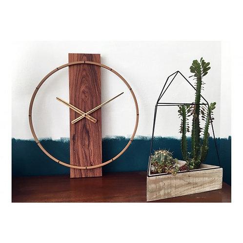 Horloge Bois et Acier