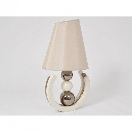"""Lampe 3 boules  """"beige et or"""""""