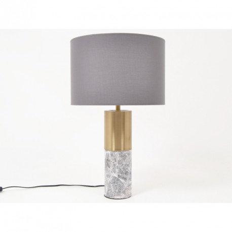 Lampe en marbre gris