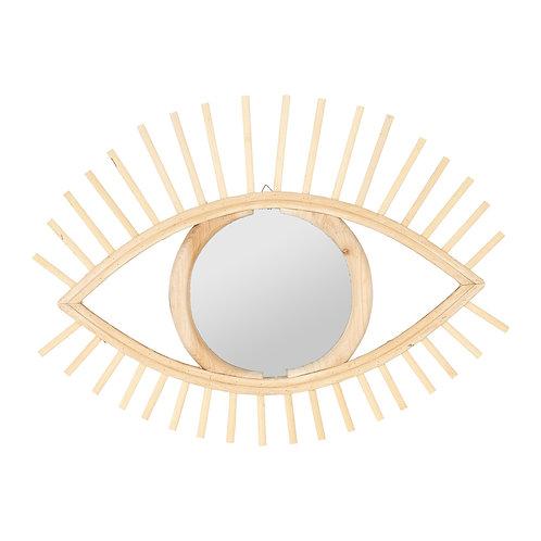 Miroir oeil  bambou