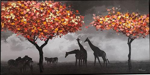 Tableau paysage d'Afrique