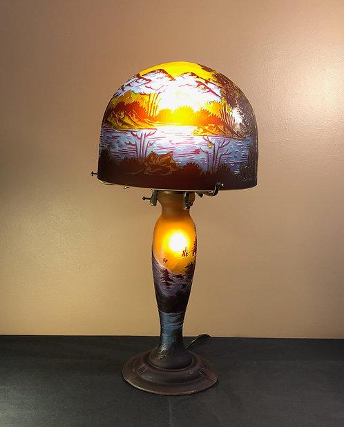 Lampe Paysage bleu