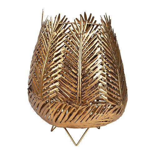 Lampe palmier doré