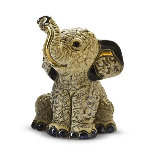 Bébé éléphant gris asiatique
