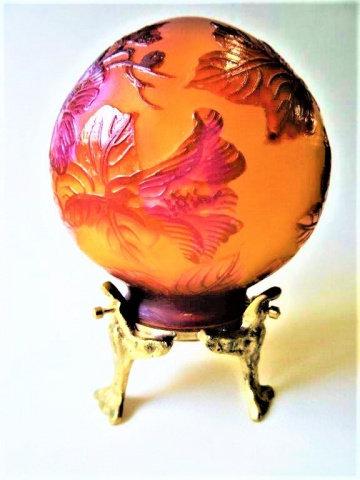 Lampe boule en pâte de verre
