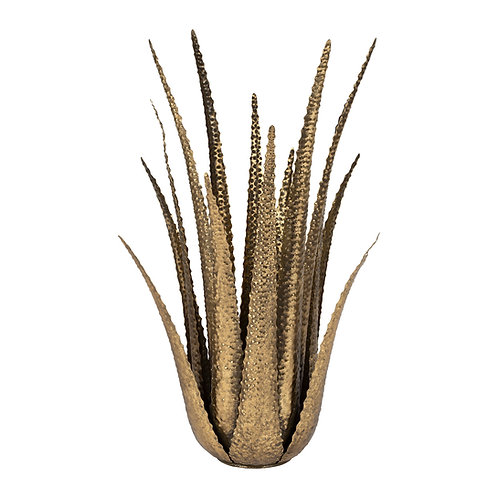 Bougeoir Aloe vera doré
