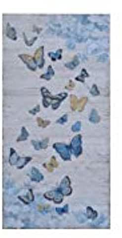 Tableau papillon et oiseaux sur branche de cerisier