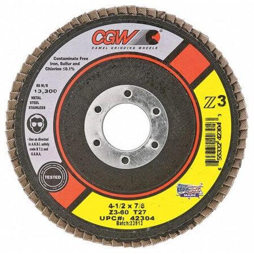 "Flap Disc - Standard - 4-1/2"" X 7/8"""