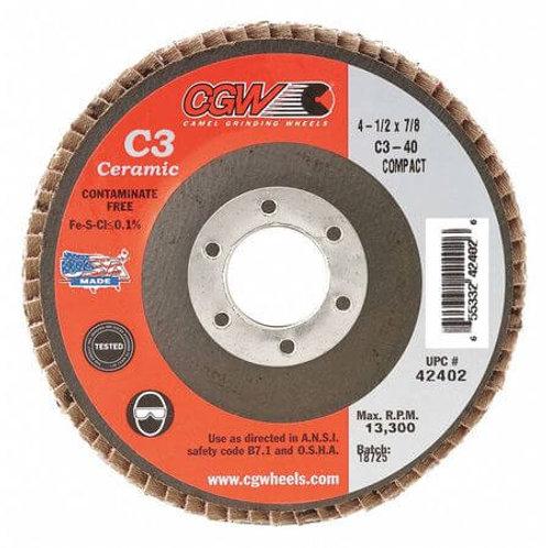 "Flap Disc - Ceramic 4-1/2"" x 7/8"""
