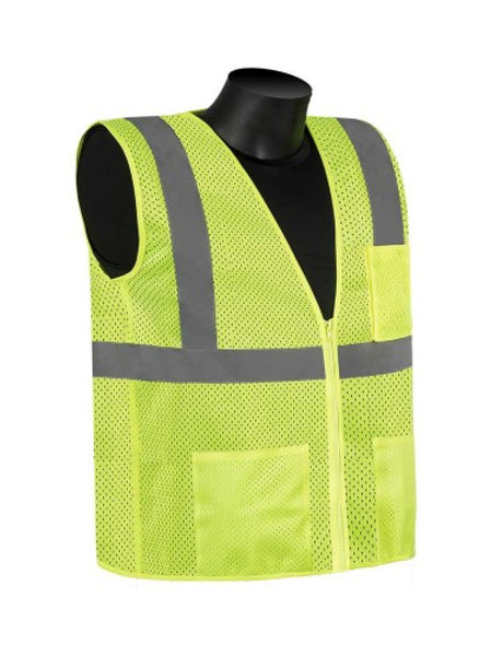 Class 2 Lime Green Zipper Vest