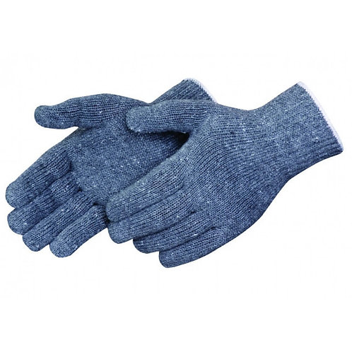 Standard Weight Gray String Knit Gloves
