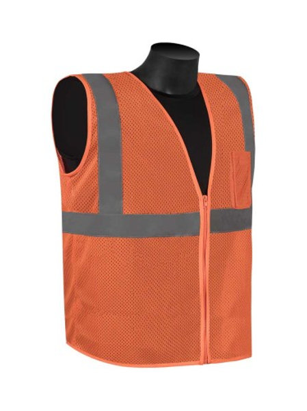 Class 2 Orange Zipper vest