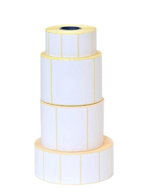 4 x 2 Label - White