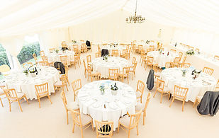 Full Marquees setup, including wedding table and decoration