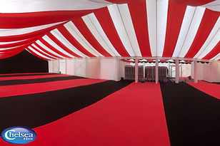 Cool Red & Black Marquee Hire Design