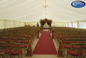 Chelsea Hire Indoor Wedding Ceremony Marquee