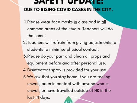 Safety measures, a Covid update.
