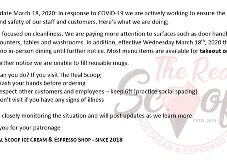COVID-19 March 18, 2020 Update