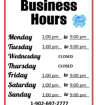 Winter Business Hours - Effective Nov 2nd 2020