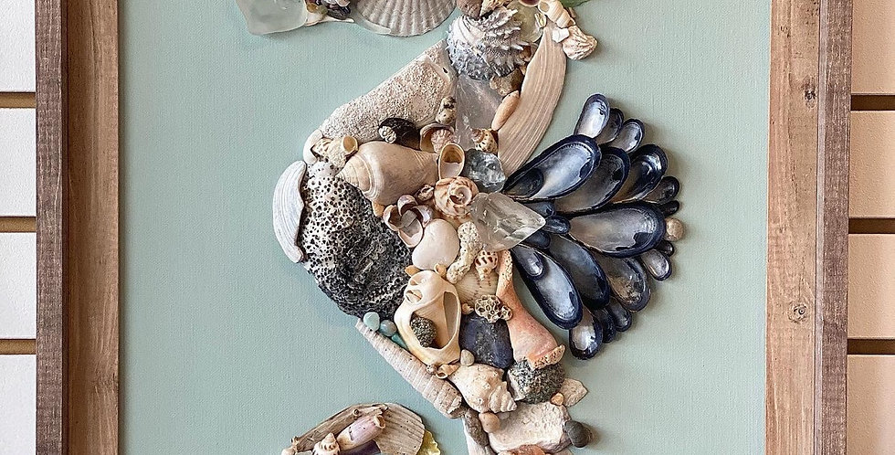 Seahorse Assemblage, framed