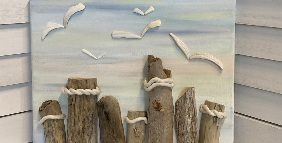 Seagulls At The Pillars - Tropical Sky
