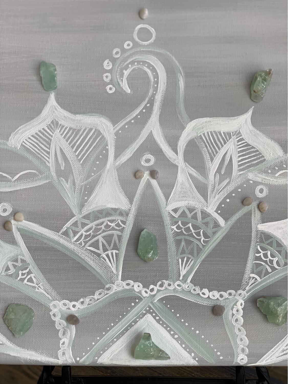 Thumbnail: Mandala With Green Calcite