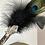 Thumbnail: 4 Element Smudge Wand- Peacock & Clear Quartz