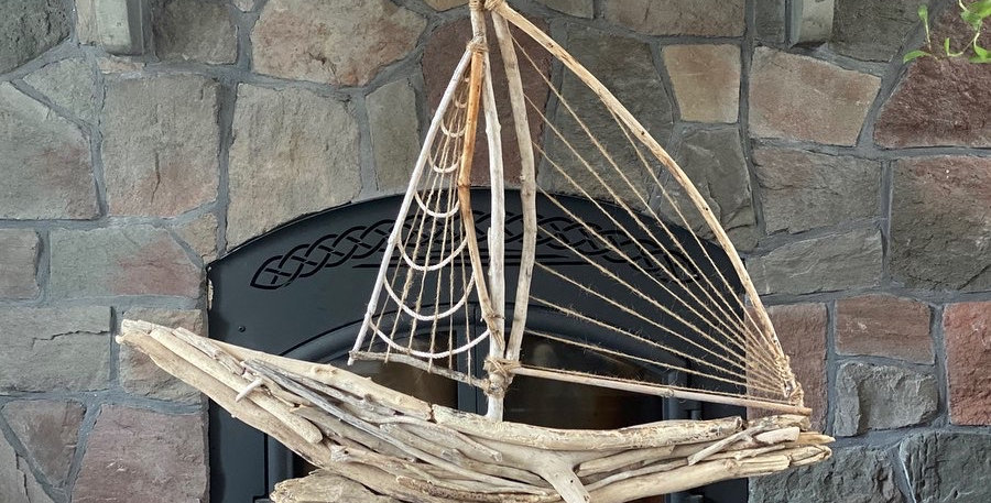 Driftwood Sailboat #2