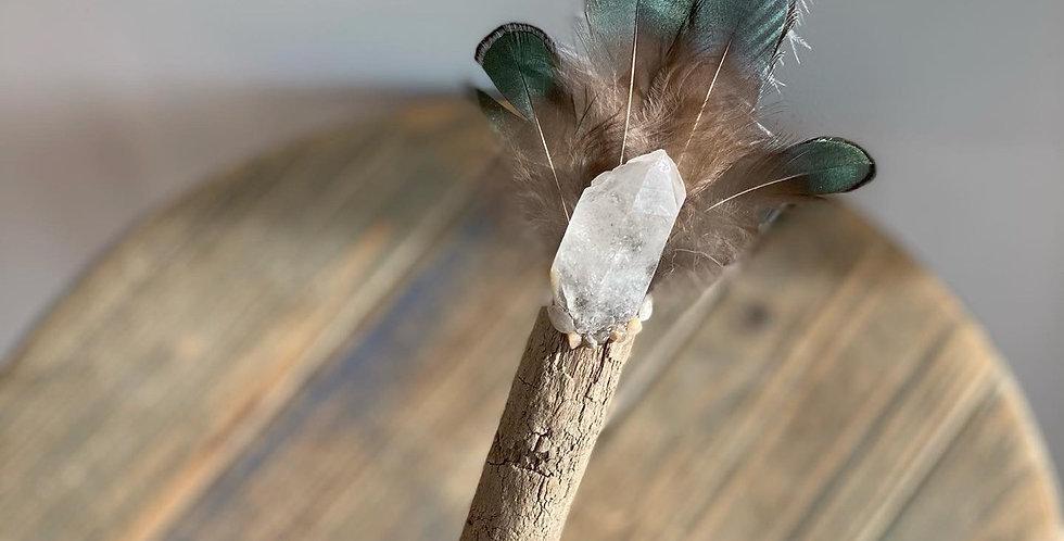 Shimmering Healing Wand ~ Clear Quartz