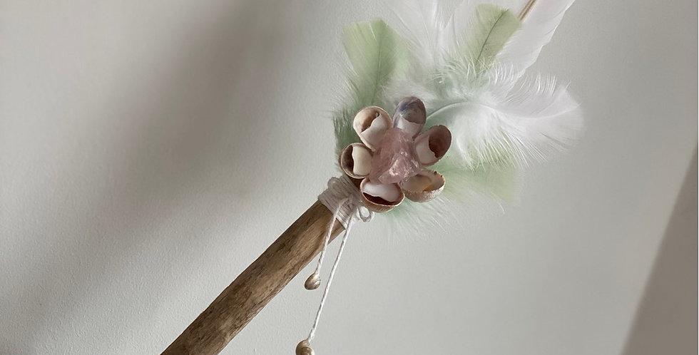 4 Element Healing Wand- Rose Quartz