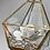 Thumbnail: Swinging ZenFlower Terrarium- Rose Quartz & Pyrite