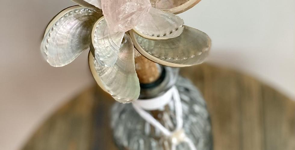 Abalone ZenFlower ~ Rose Quartz