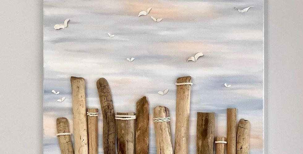 Seagulls and Pillars