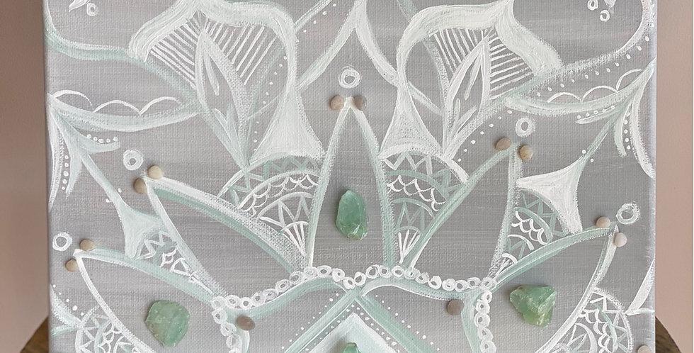 Mandala With Green Calcite