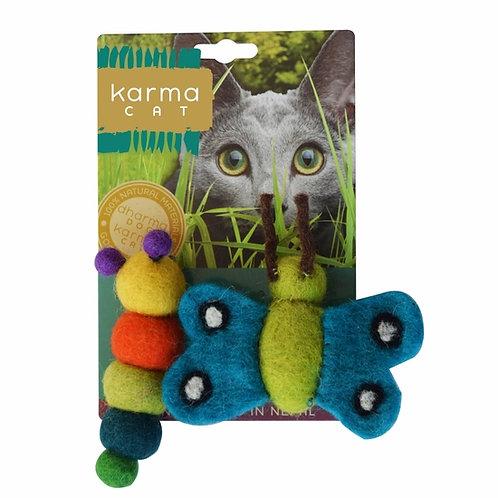 Caterpillar & Butterfly Wool Cat toy