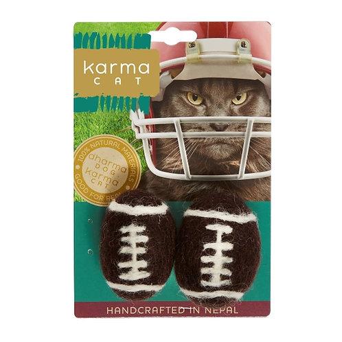 Football Wool Cat Toy