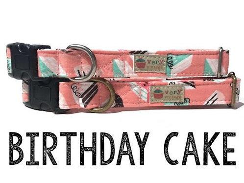 Birthday Cake Organic Cotton Pet Collar