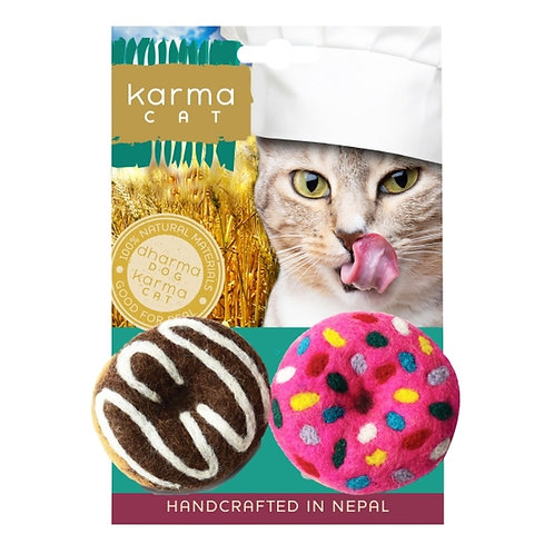 Donut Wool Cat Toy