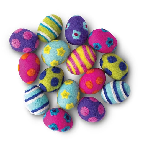 Easter Egg Wool Cat Toy