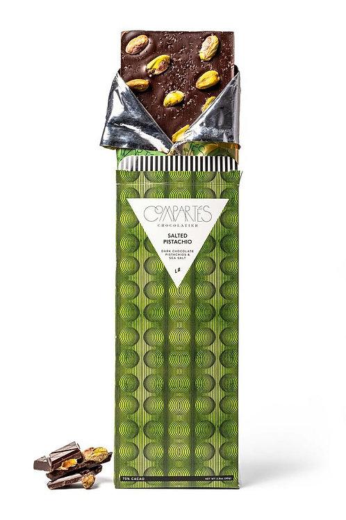 Salted Pistachio Dark Chocolate Bar